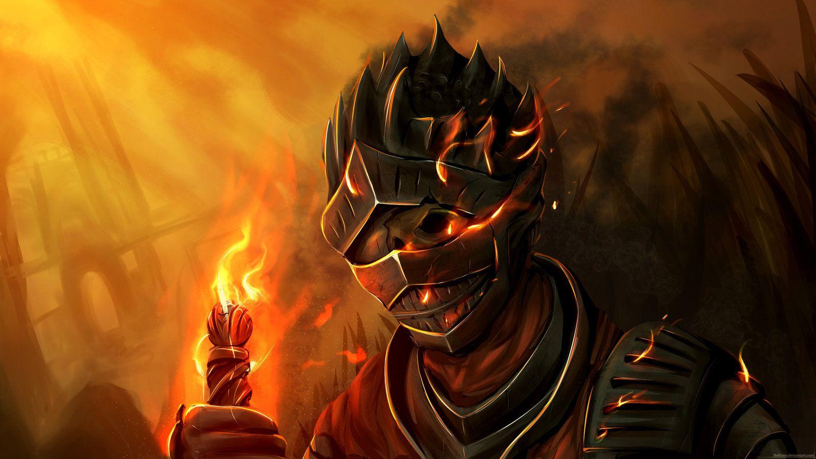 Dark Souls Soul Of Cinder Fervour By Hellrain On Deviantart