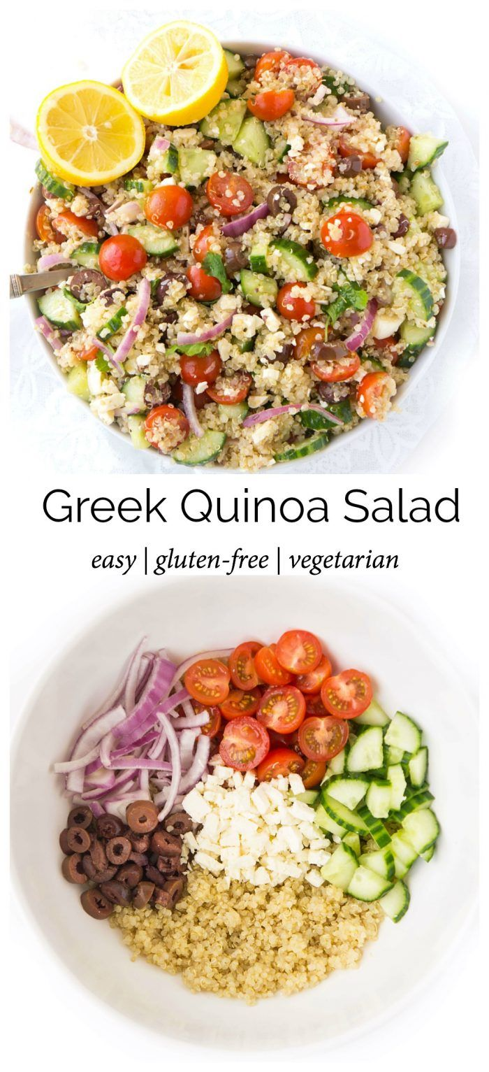 Easy Greek Quinoa Salad | Haute & Healthy Living