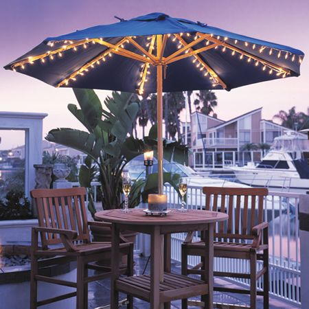Harbor Umbrella Lights Cute Idea With Fairy Lights