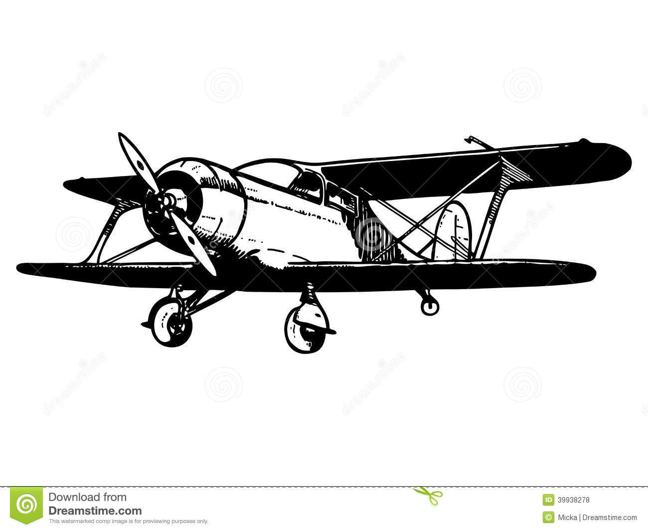 Vintage Airplane Black And White Wallpaper Photo Click
