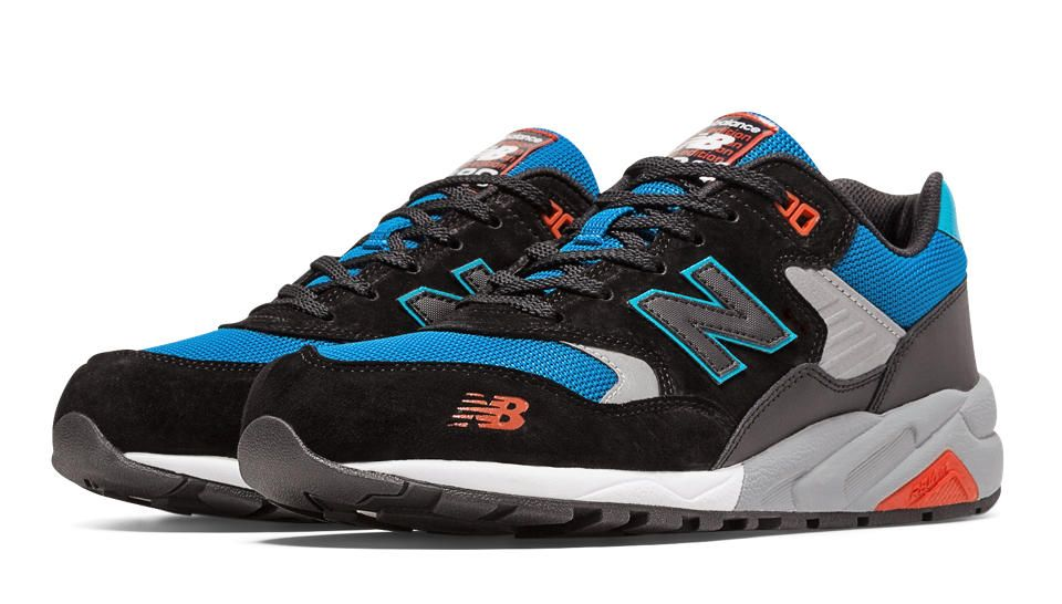 5f50bedbd 580 Elite Edition Pinball Suede, Black with Blue & Red | Shooz in ...