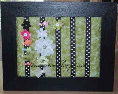 Girls Barettes and Hair Bow Holder - The Idea Room