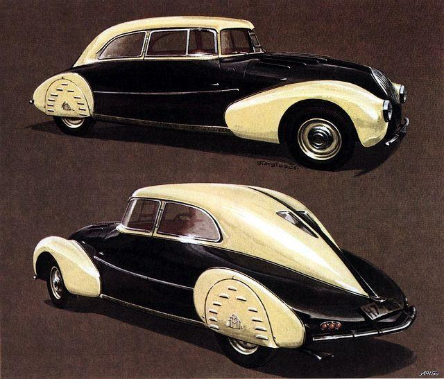 1935 Maybach SW 35 design by Jaray, build by Spohn