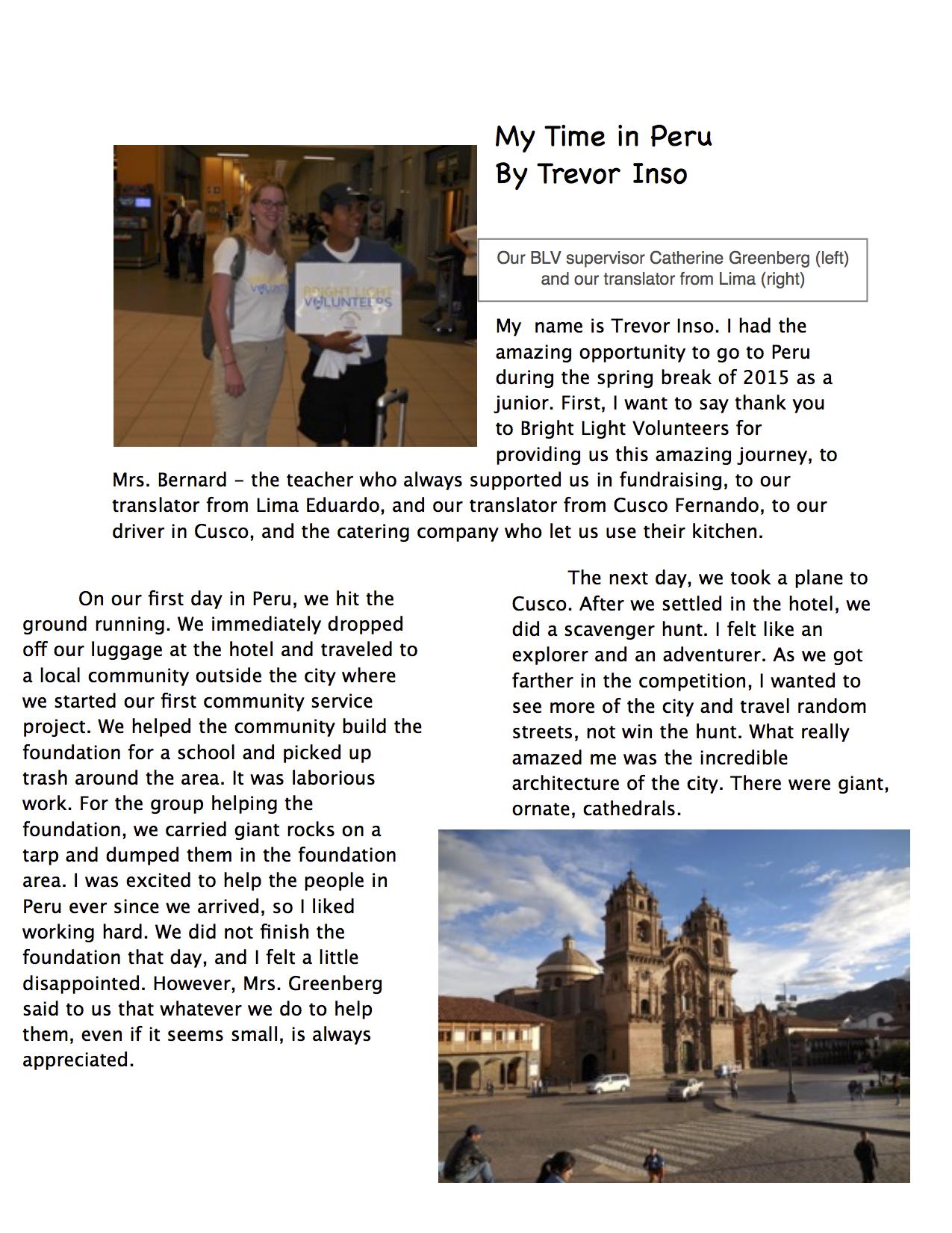Our Impact Peru
