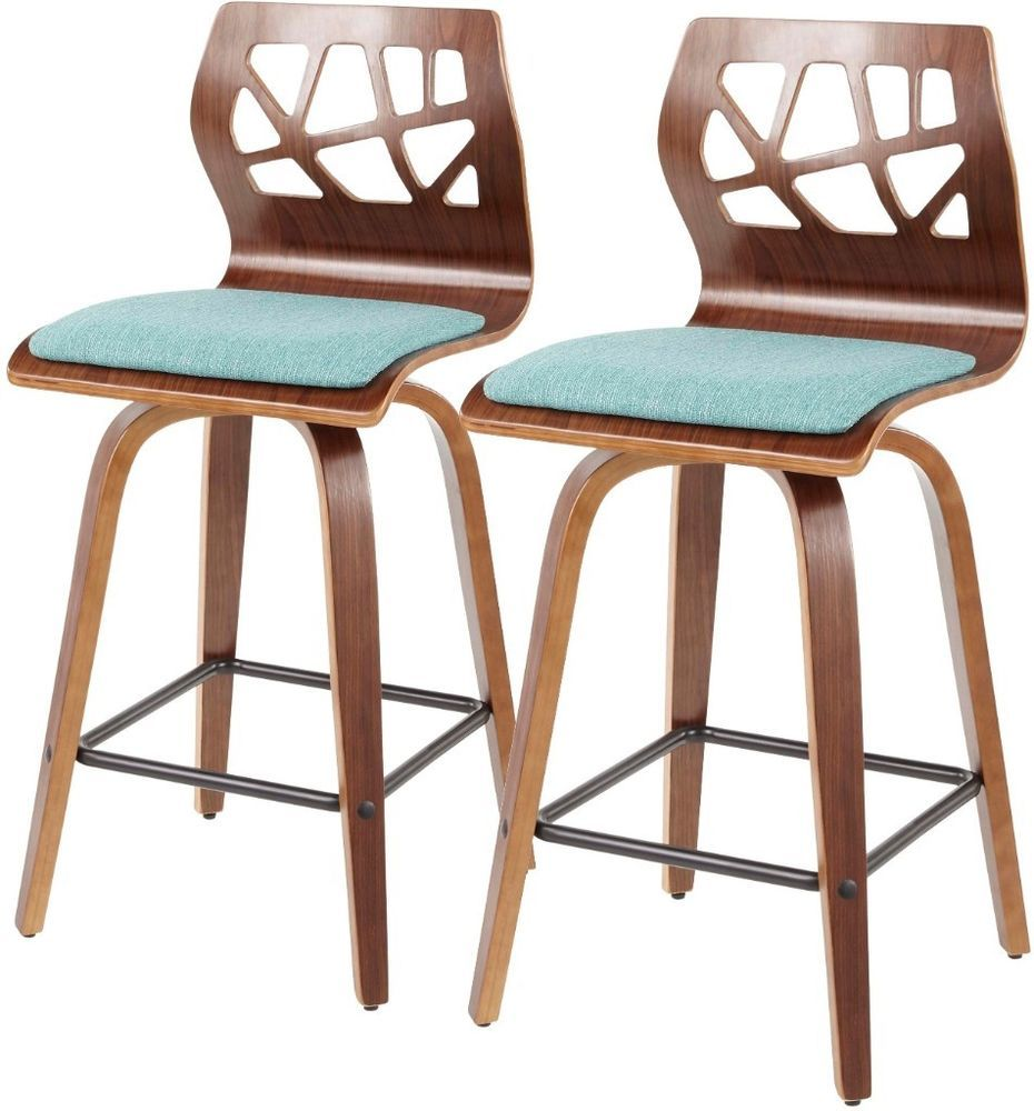 Sqaure Mid Century Modern Accent Chairs.Set Of 2 Mid Century Modern Counter Height Stools Square Pub High