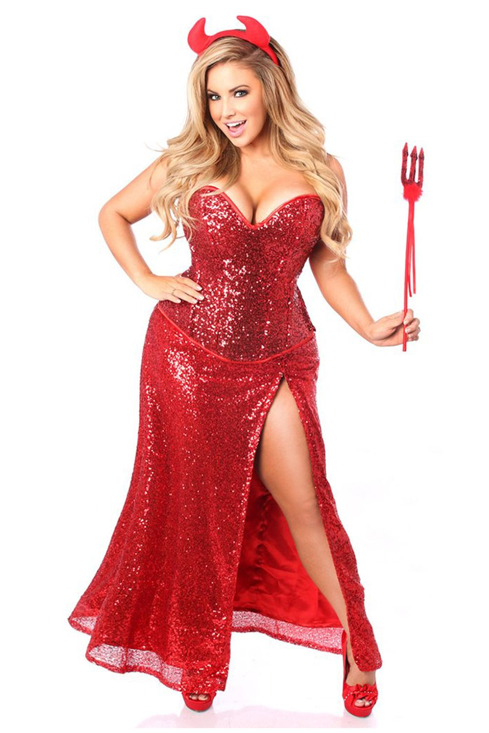 1bfdd38f2a4d4 Devilishly hot in our Top Drawer Premium Red Sequin Devil Costume. Get  yours now