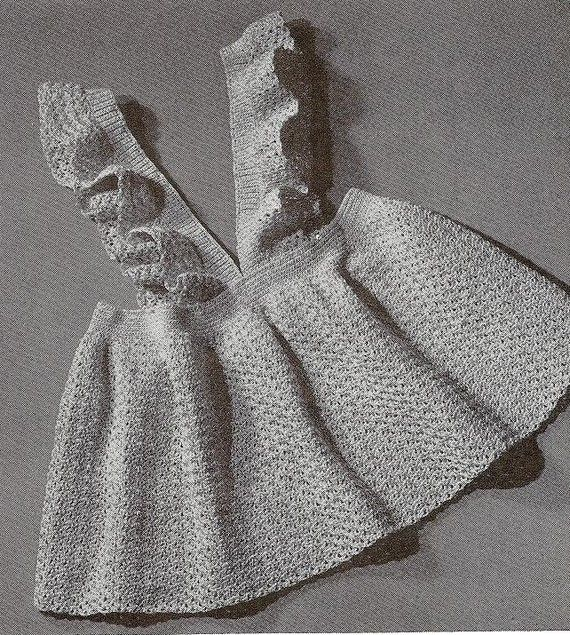 Vintage Crochet Pinafore Dress...cute idea to try to recreate (no ...