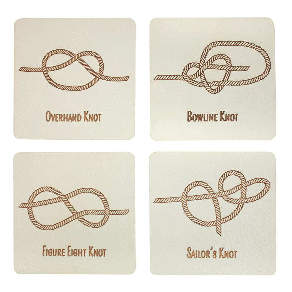 Knot Coasters | Benoit's Design Co. | Made in Maine USA #ropeknots
