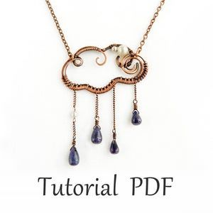 Photo of Wire wrapped jewelry tutorial Cloud pendant Copper wire tutorial Wire weave tutorial without soldering Step by step guide Wire wrapping