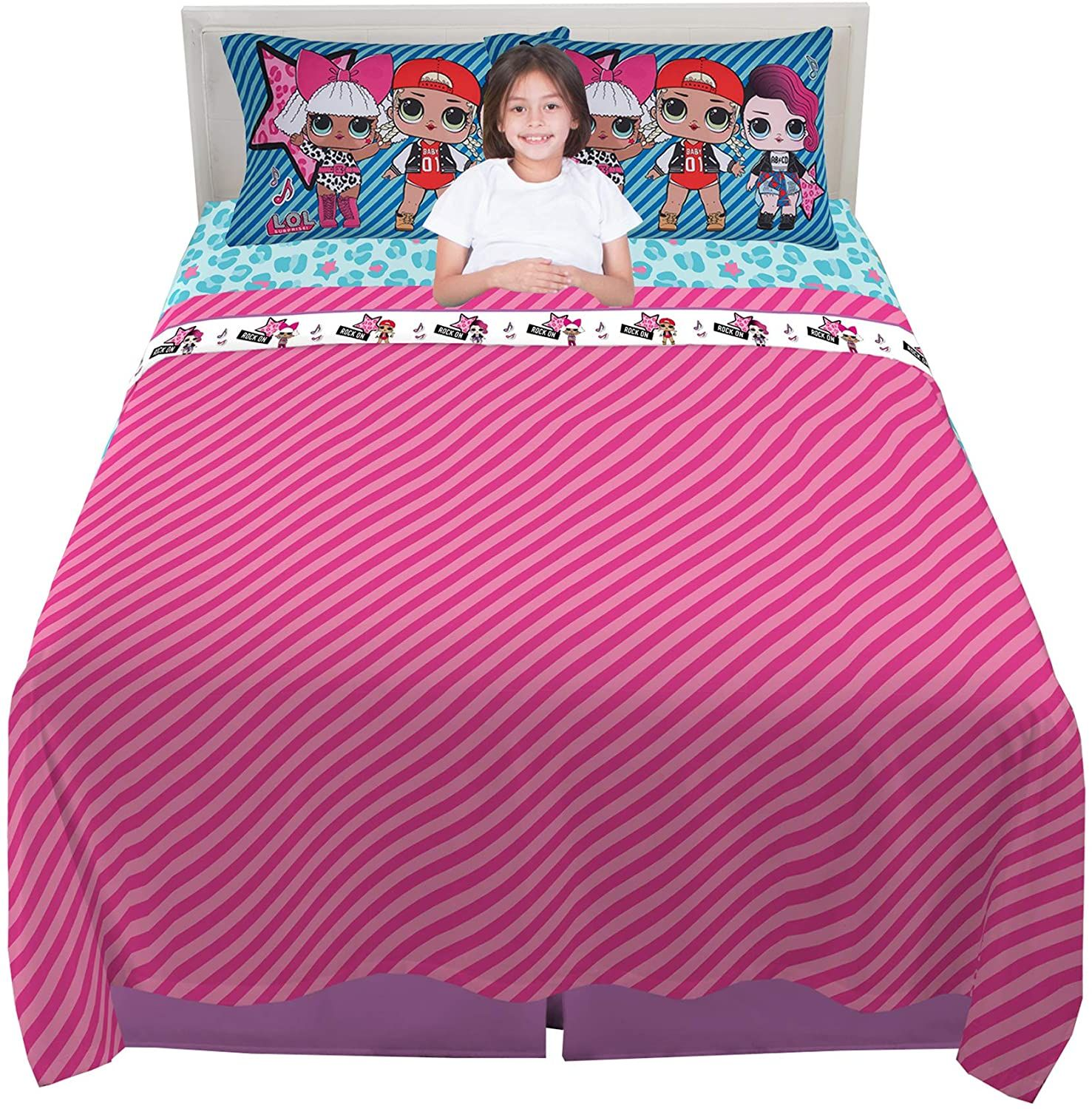 Franco Kinder Bettwäsche Set Superweich 4 Teilig Volle Größe L O L Surprise Kids Bedding Bed Softest Sheets
