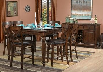 Casual Dining Room Furniture The Kingston II Collection Kingston II Pub  Table
