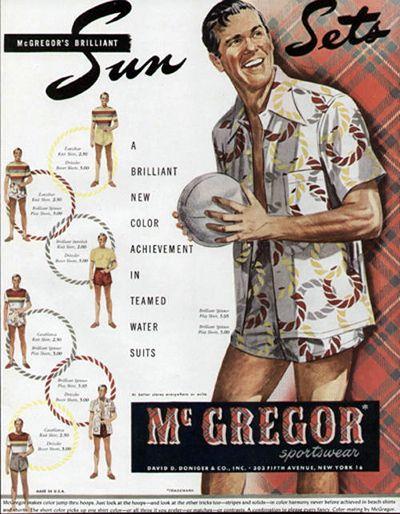 VINTAGE 1948 McGREGOR MEN'S SWIMSUIT AD in 2019 | Vintage
