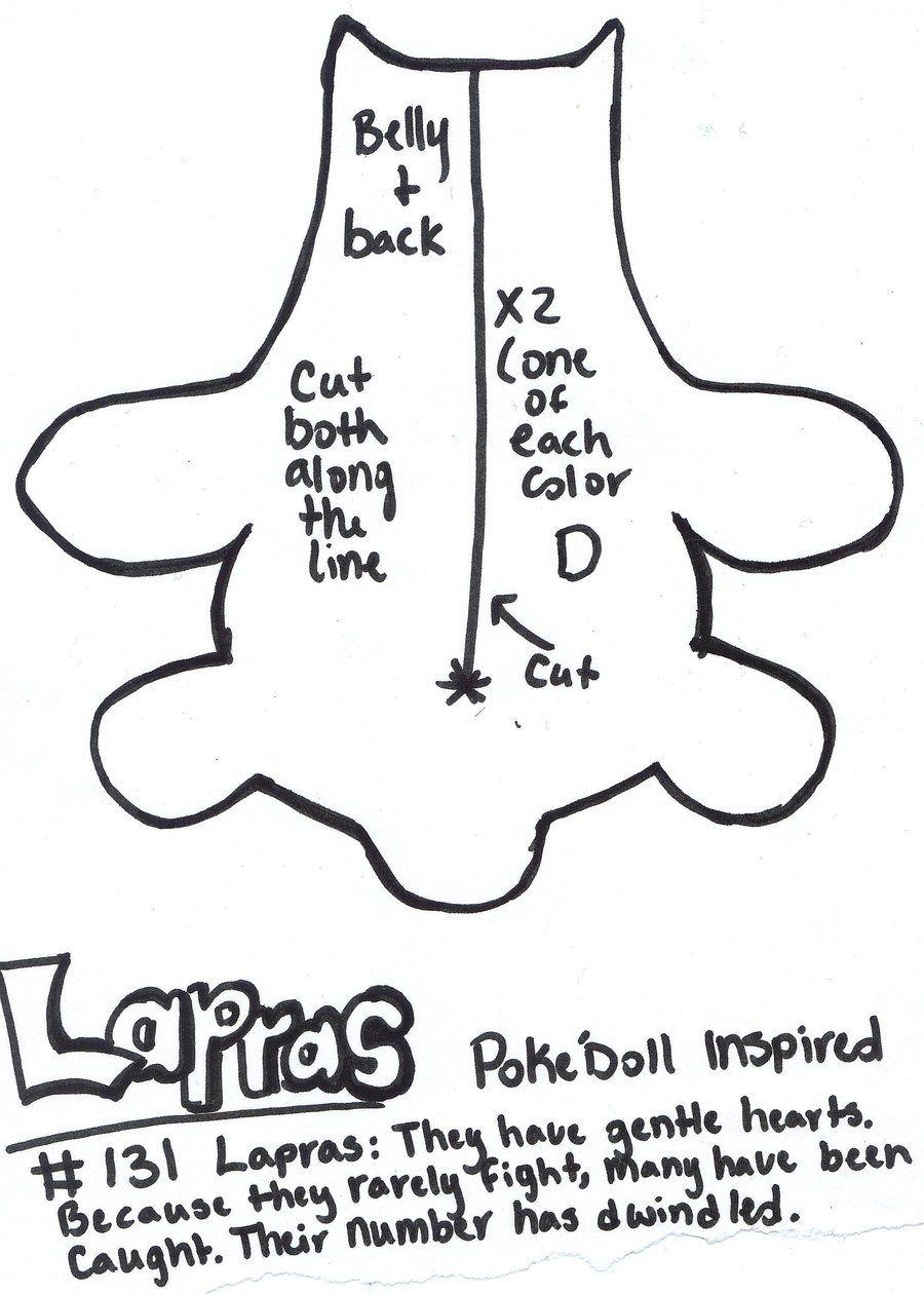 Pokedoll Lapras plush pattern (scan 1) by ~Kurosakou on deviantART ...