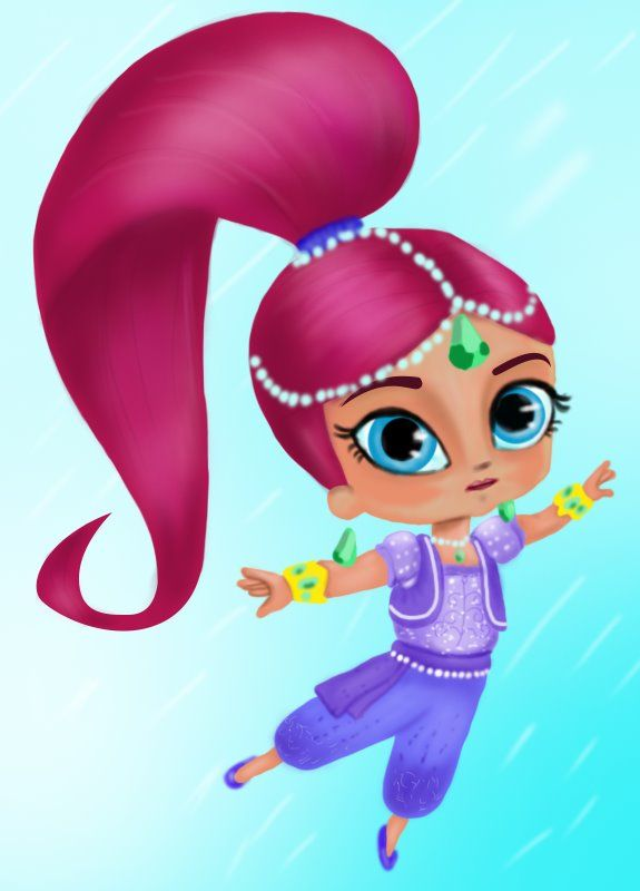Learn how to draw shimmer from shimmer and shine shimmer and shine