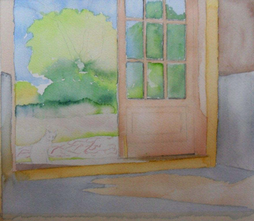 curso de dibujo y pintura. Aula creativa, docente: mjbarrera: Acuarela :Paso a Paso, Estudio de la luz y sombras.