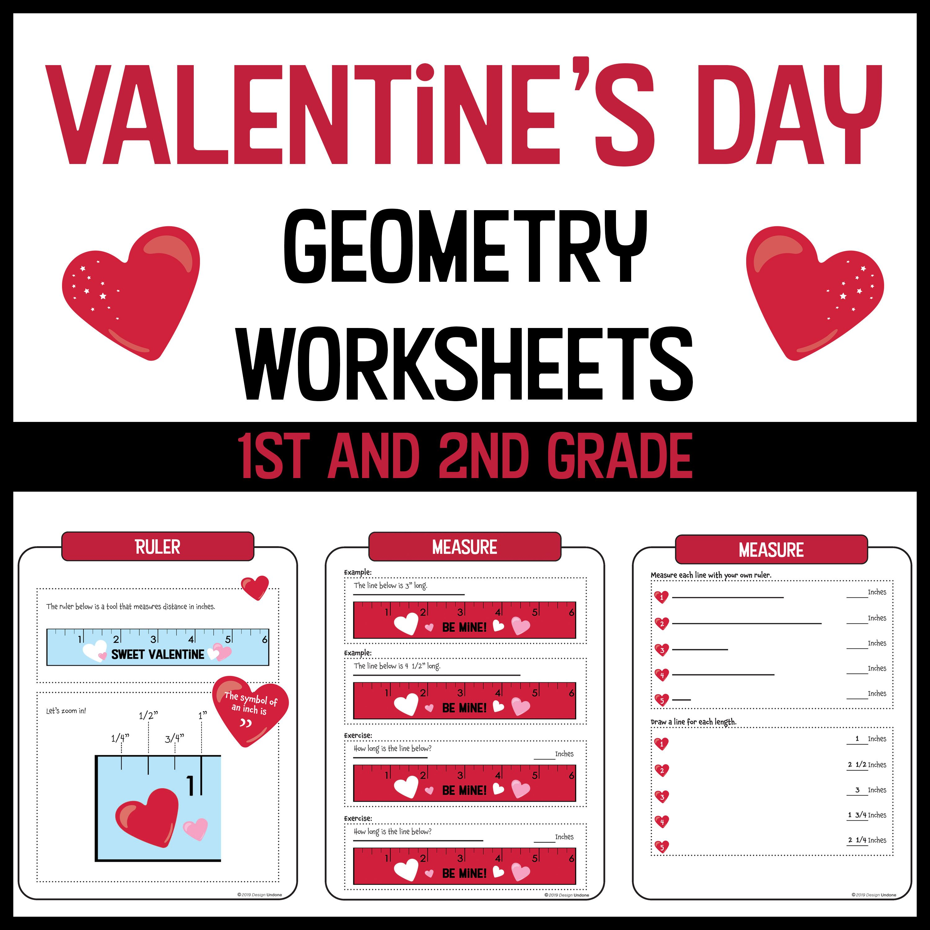 Valentine S Day Geometry Worksheets