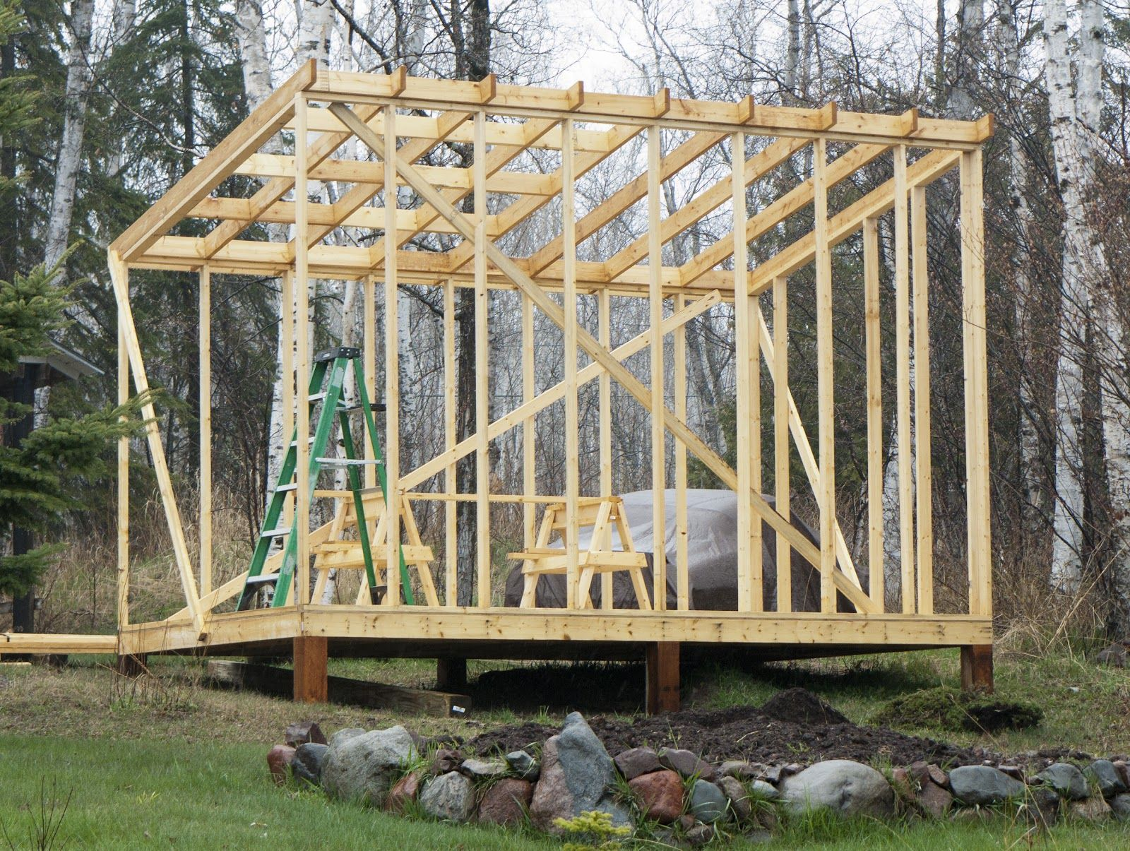Building a shed roof woodworking pinterest cottage for How to build a sloped roof shed