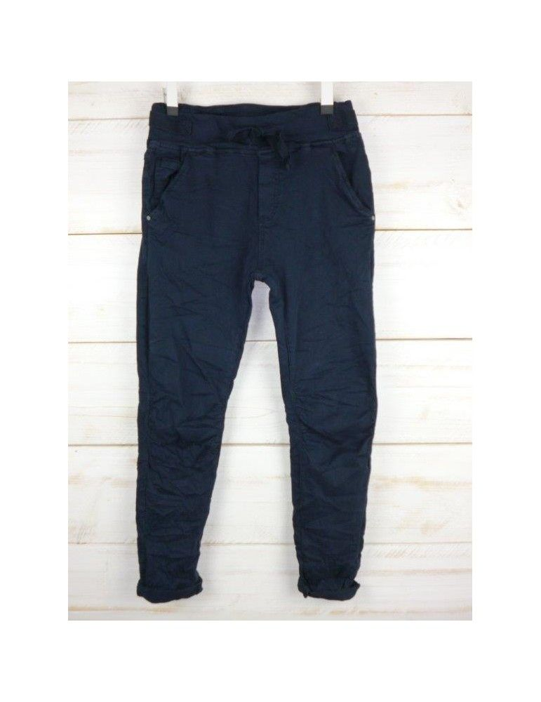 Modern und elegant in der Mode exquisites Design noch eine Chance Melly & Co Jeans Hose Jogging Jog Pants dunkelblau marine ...