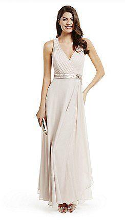 9c2662e7a7 No. 1 Jenny Packham - Designer rose ruched waterfall evening dress ...