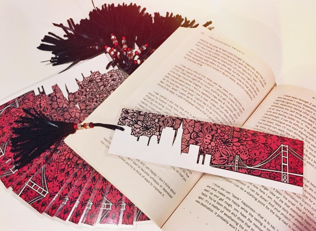 Brita Lynn Thompson On Instagram 15 Custom San Francisco Bookmarks Zentangle