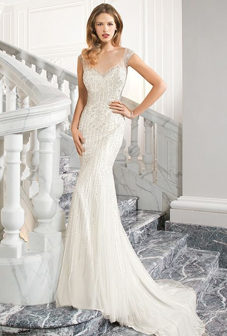 Brides: Demetrios - Couture. This striking, form fitting, old ...