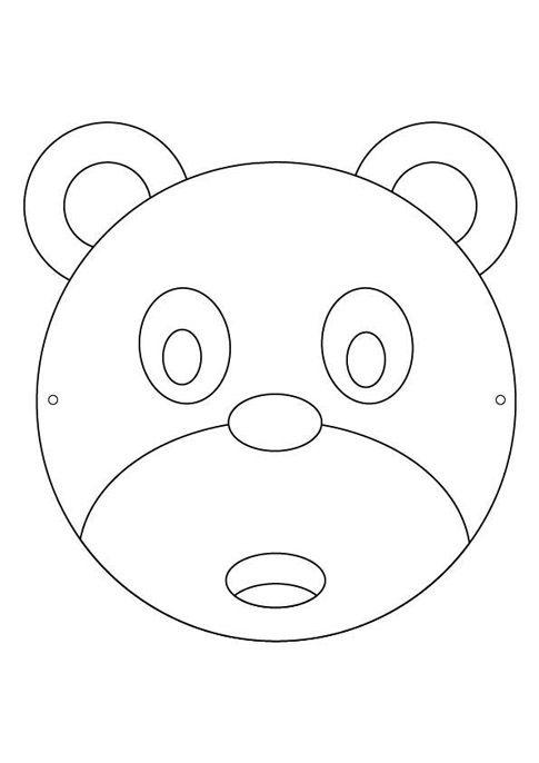 Caretas infantiles de animales gratis | los tres osos | Pinterest