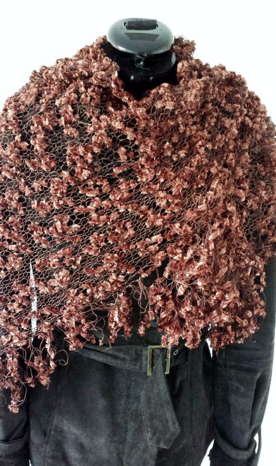 Knitted shawl by StudioS2ophia on Etsy