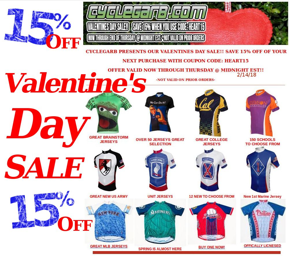 Valentines Day Sale! 15% Off Your Order - Use Coupon Code  HEART15 ... 7113f4639