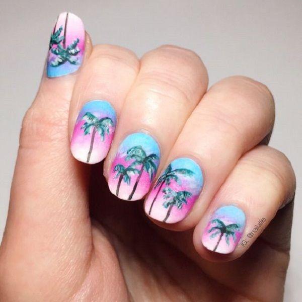 40 Palm Tree Nail Art Ideas Jewe Blog - 40 Palm Tree Nail Art Ideas Palm Tree Nail Art, Palm Tree Nails