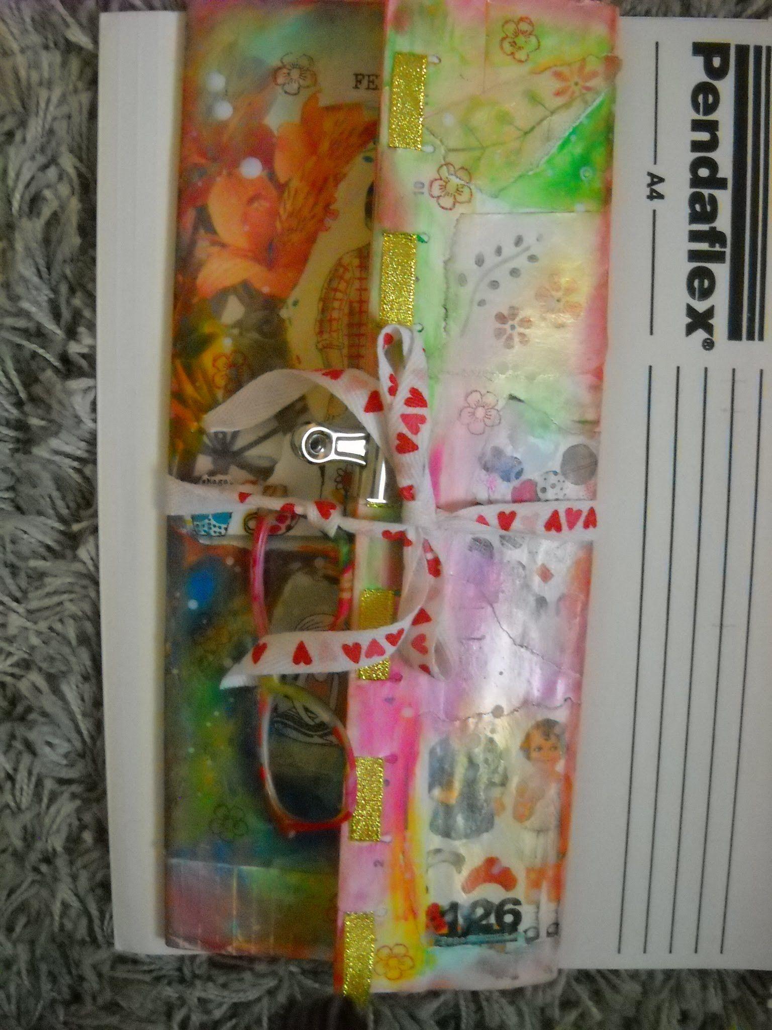 Colorful Collage folder Inspired Dede Willingham