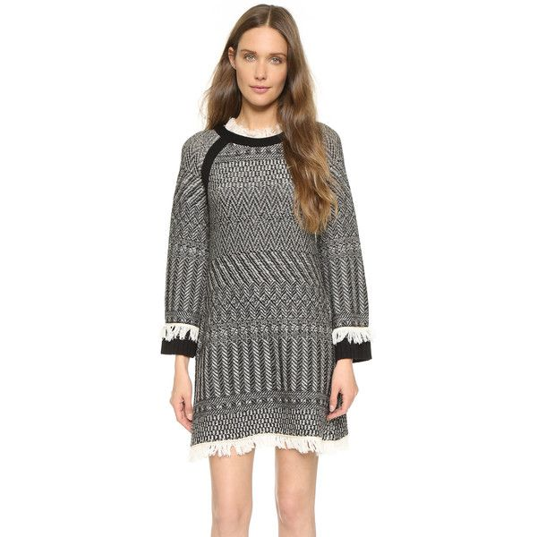 Philosophy di Lorenzo Serafini Long Sleeve Dress (¥80,710) ❤ liked on Polyvore