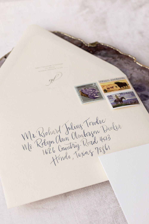 Destination Wedding Invitation Envelope Hand Calligraphy
