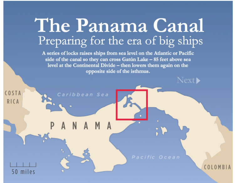 Interactive inspiration 14 pinterest panama canal panama and map showing where the panama canal is located httppanama capeartist gumiabroncs Choice Image