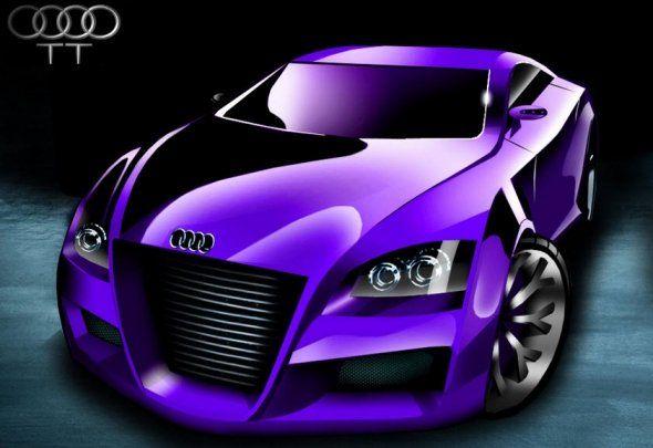 Wedding Car Purple Automobile Cars Stuff Things