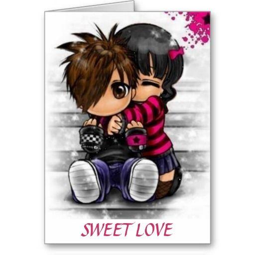 Sweet Love Card Zazzle Com In 2021 Emo Cartoons Anime Love Is Sweet