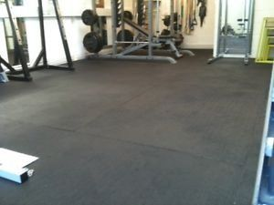 Heavy Duty Large Rubber Gym Mat Commercial Flooring 12mm Garage