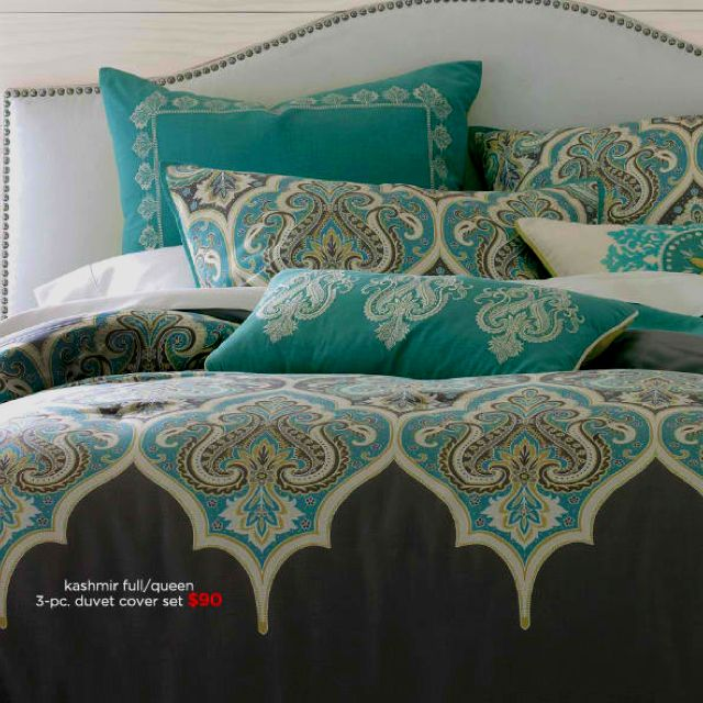Brown & Turquoise For The Master Bedroom