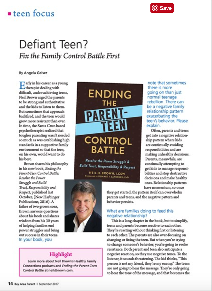 Define teen? Fix the family control battle first! Read the full article on  page 14-15
