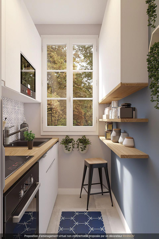 Aménagement d'une petite cuisine   Ide dekorasi dapur, Rumah, Dapur