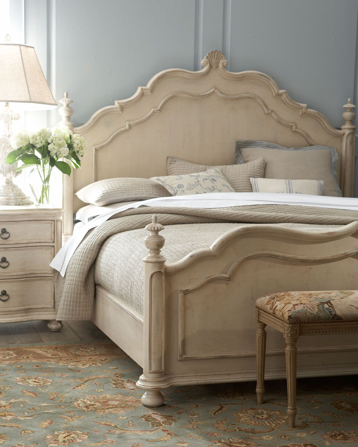 Distressed Finish Cream Furniture Browns Blues And Greys In Accessories For Neutral Look Caroline Tristan Bedroom