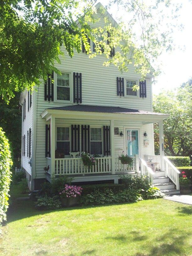 White House Black Shutters Turquoise Door Flowers White House Black Shutters Black Shutters Front Door Colors