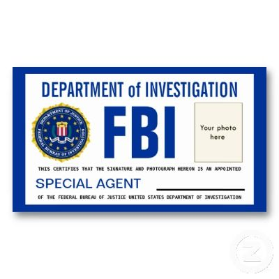 Police Id Cards Templates    Template Fbi Badge Sep