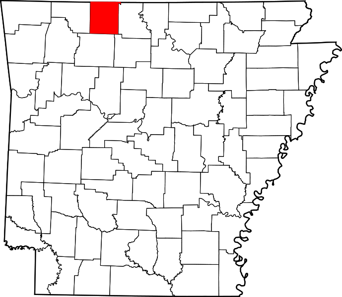 Boone County Arkansas Map.Map Of Arkansas Highlighting Boone County Ancestral Homes