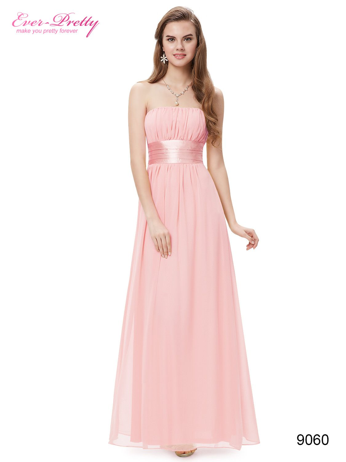 Sexy Pink Long Evening Party Bridesmaid Dress - Ever-Pretty US ...