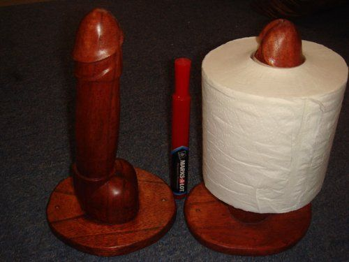 Toilet paper penis
