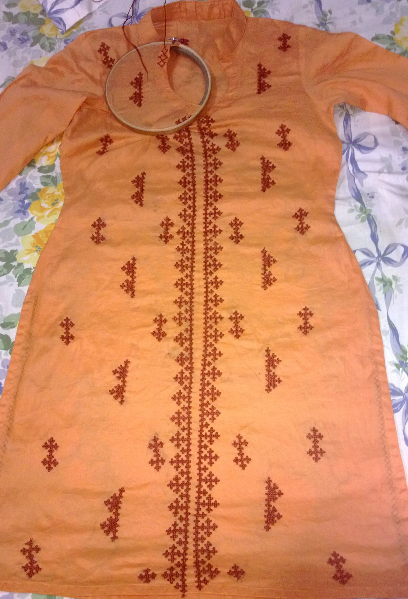 Kutch work straight stitches pinterest embroidery