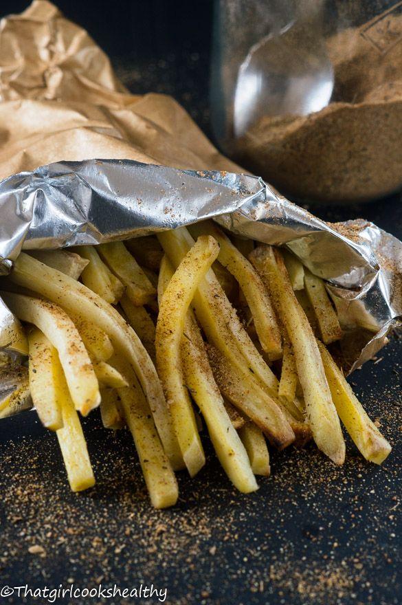 Jamaican Jerk Sweet Potato Fries Vegan Lunch Dinner