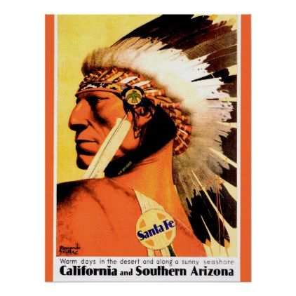 Indian chief california and southern arizona rail poster solutioingenieria Image collections