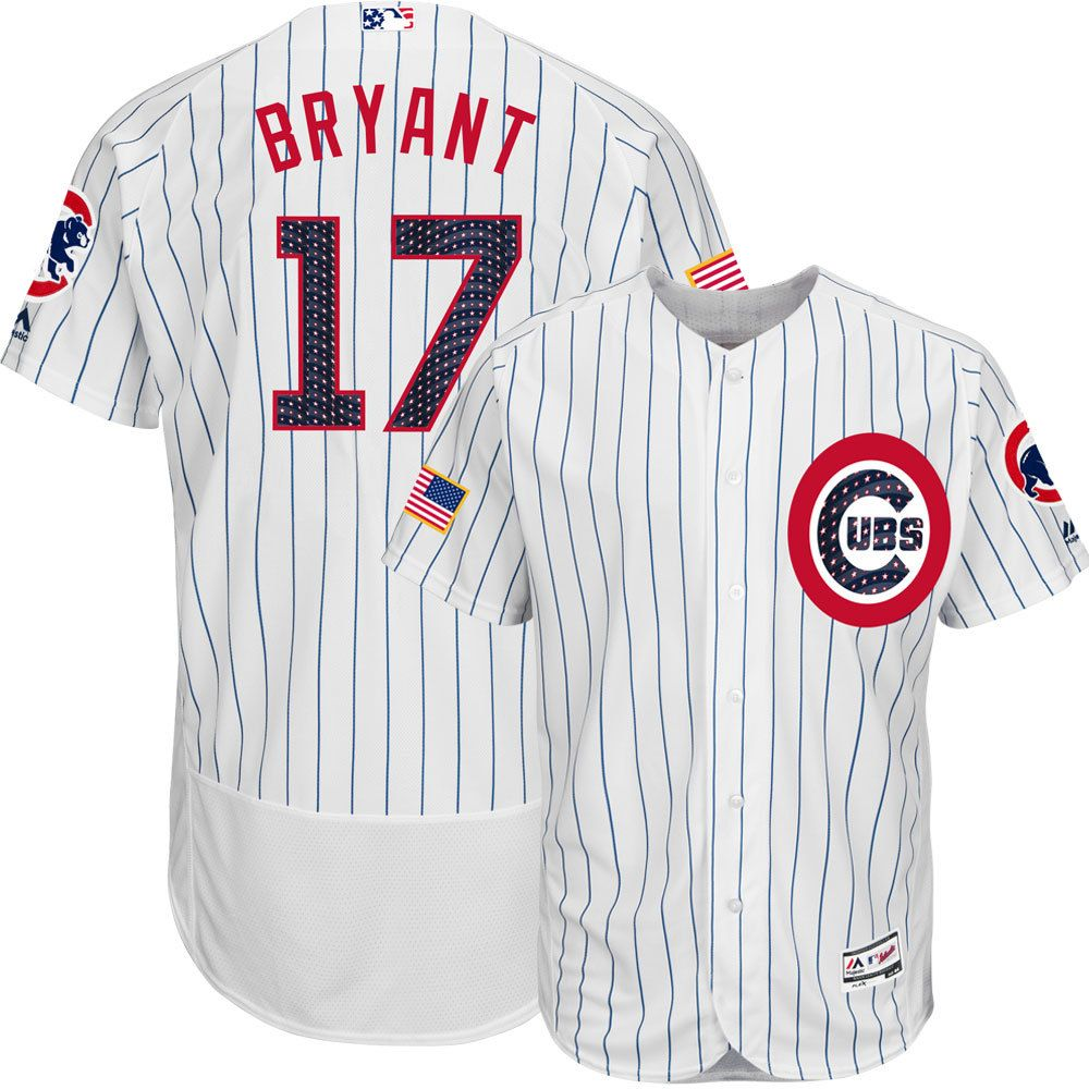 317bfb7a Kris Bryant Chicago Cubs 4th of July Stars & Stripes Flex Base Jersey  #ChicagoCubs #KrisBryant #Cubs #FlyTheW #MLB #Thatscub #4thofJuly