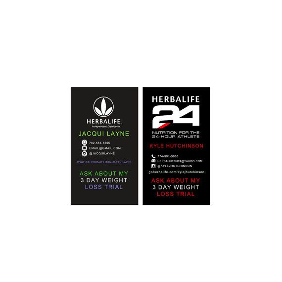 Carte De Visite Vorlage Model Herbalife Business Card Digital Template 3 By WackyJacquisDesigns Cards Visit